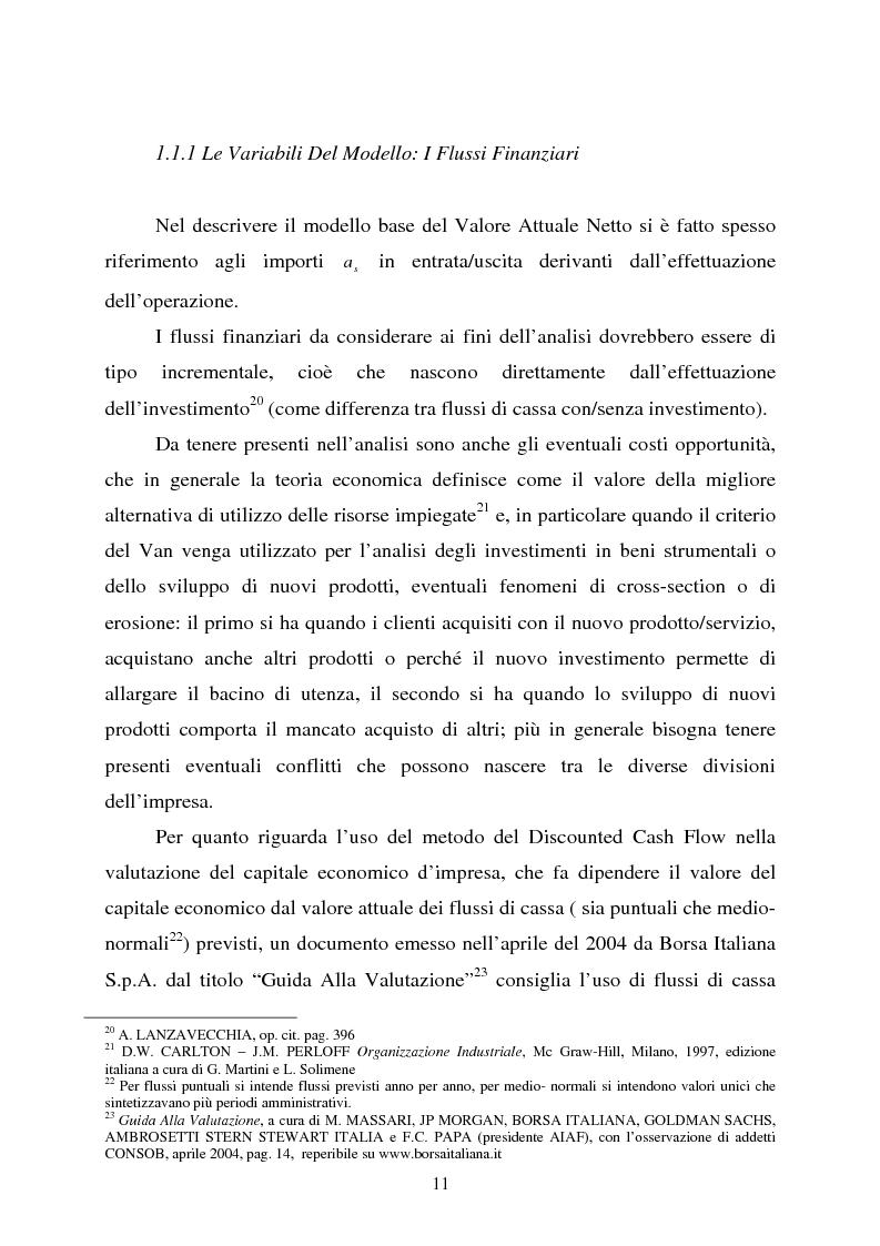 """Anteprima della tesi: Scelte aziendali in condizioni di incertezza: gli usi non finanziari del """"Value at Risk e le Opzioni Reali"""", Pagina 11"""