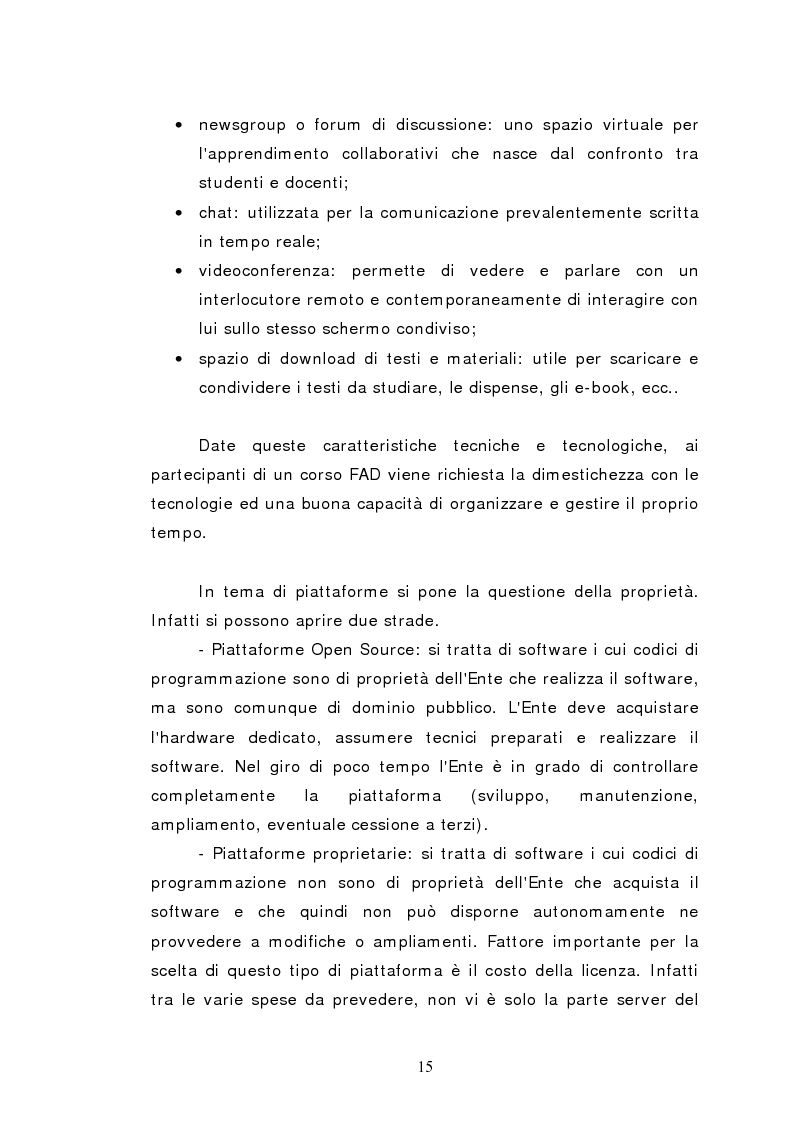 Anteprima della tesi: L'istruzione a distanza nella formazione infermieristica universitaria e continua: ipotesi applicative, Pagina 12