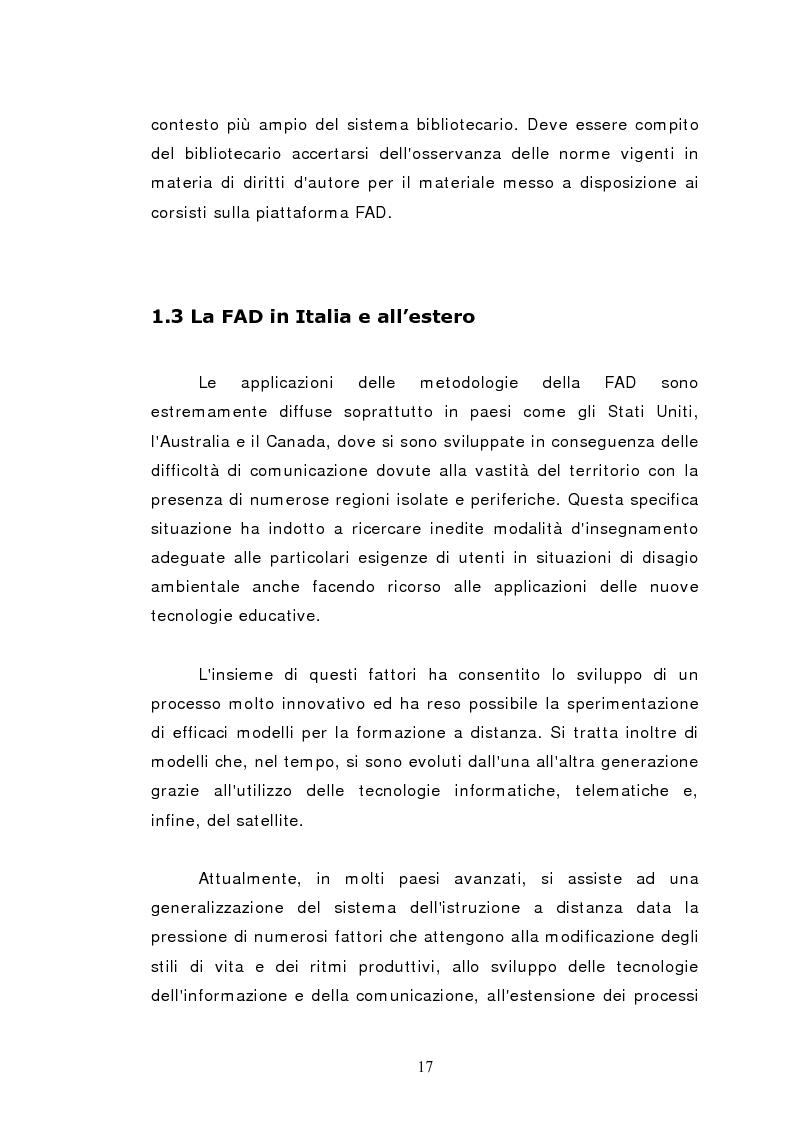Anteprima della tesi: L'istruzione a distanza nella formazione infermieristica universitaria e continua: ipotesi applicative, Pagina 14