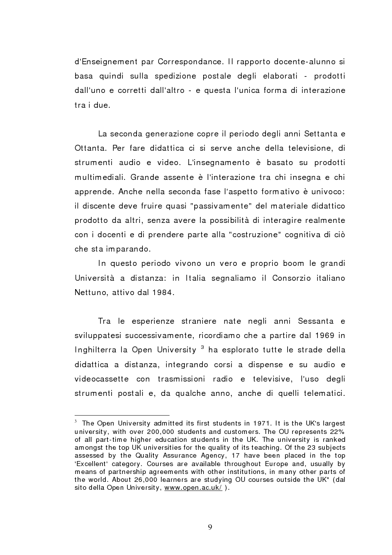 Anteprima della tesi: L'istruzione a distanza nella formazione infermieristica universitaria e continua: ipotesi applicative, Pagina 6