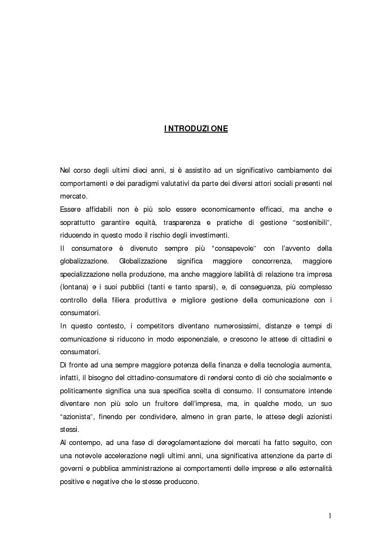 Anteprima della tesi: Il bilancio sociale d'impresa, Pagina 1