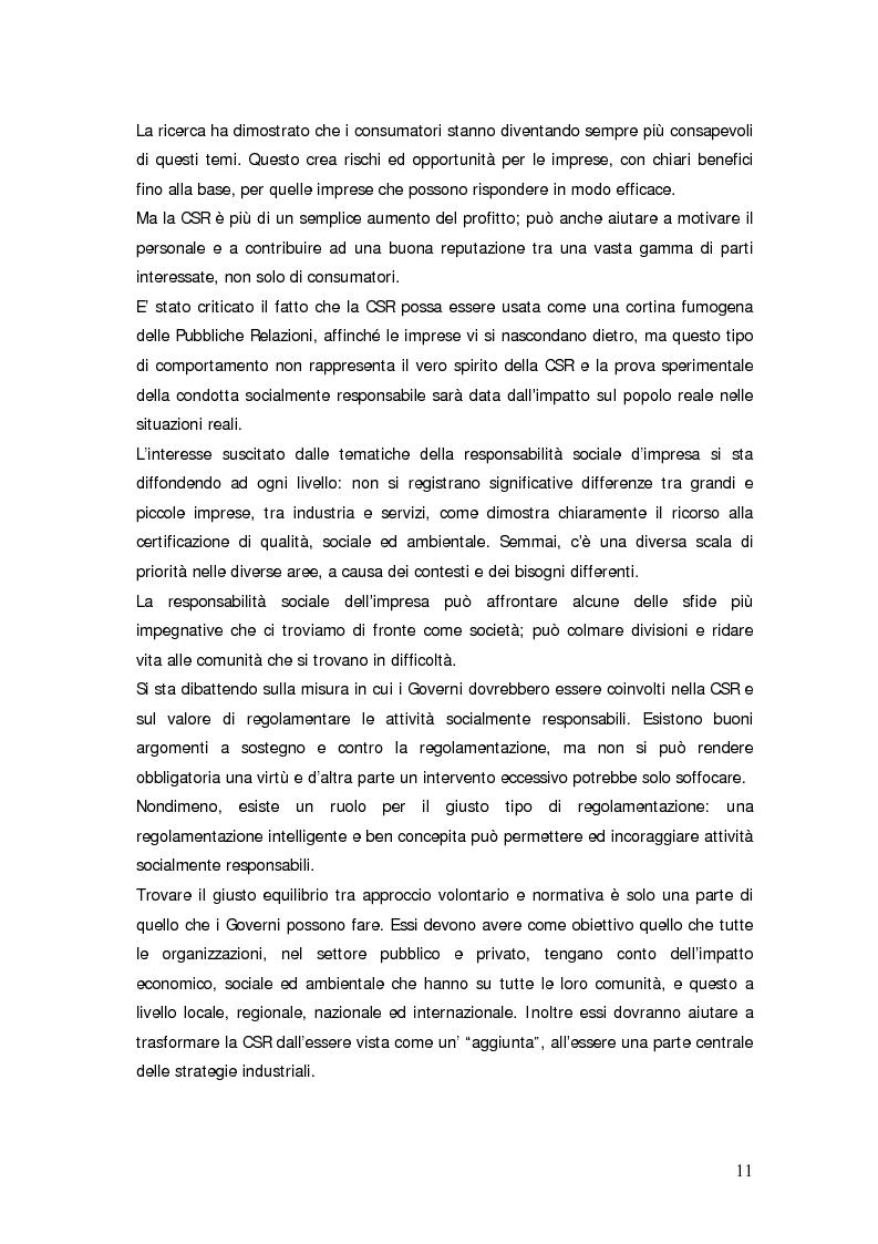Anteprima della tesi: Il bilancio sociale d'impresa, Pagina 11