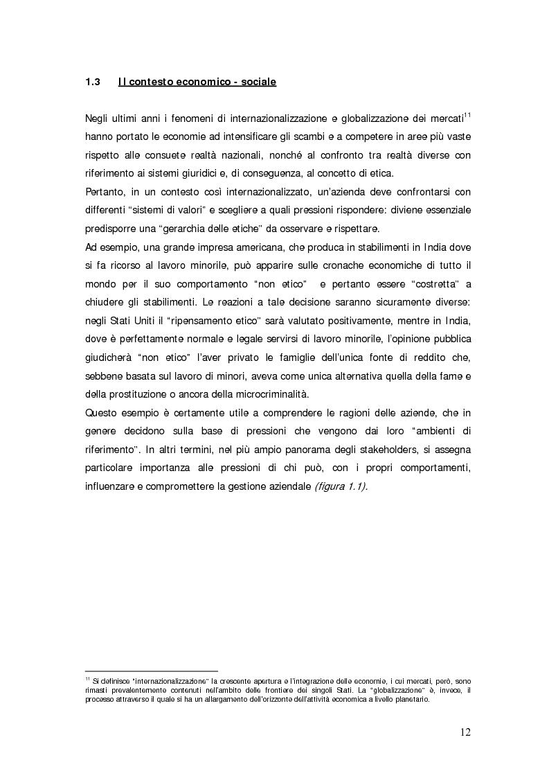 Anteprima della tesi: Il bilancio sociale d'impresa, Pagina 12