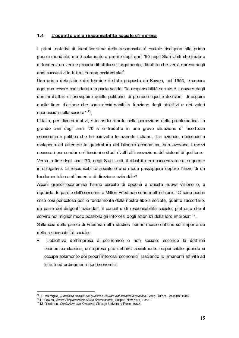 Anteprima della tesi: Il bilancio sociale d'impresa, Pagina 15