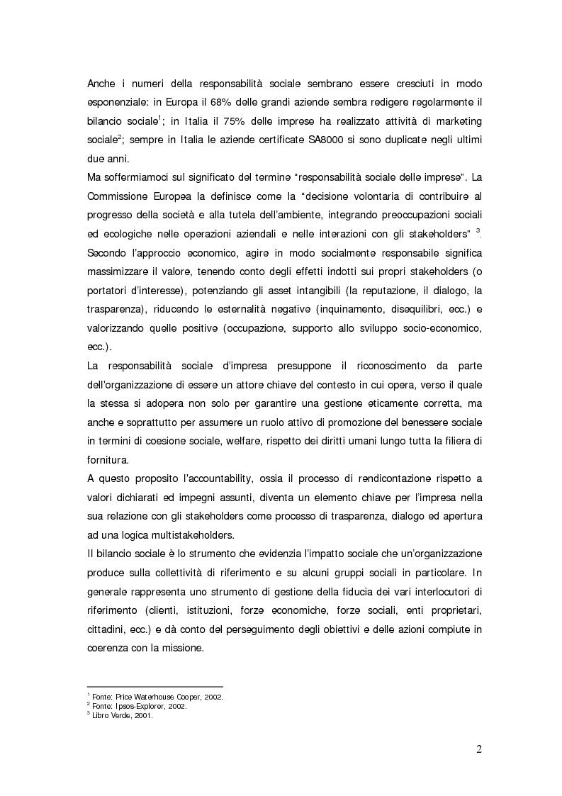 Anteprima della tesi: Il bilancio sociale d'impresa, Pagina 2
