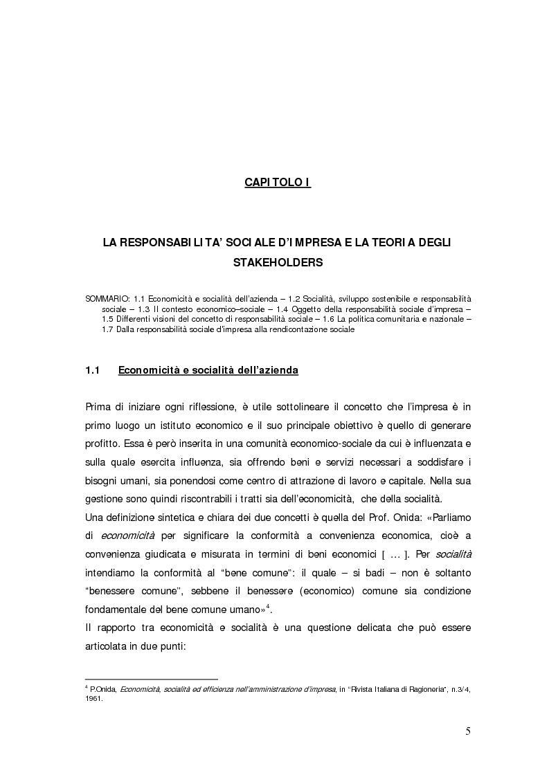 Anteprima della tesi: Il bilancio sociale d'impresa, Pagina 5