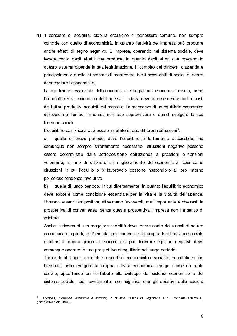 Anteprima della tesi: Il bilancio sociale d'impresa, Pagina 6