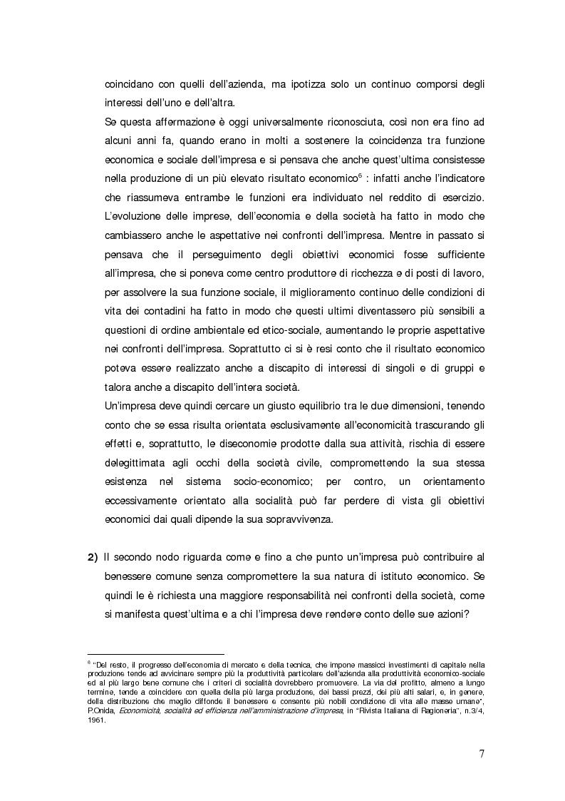 Anteprima della tesi: Il bilancio sociale d'impresa, Pagina 7