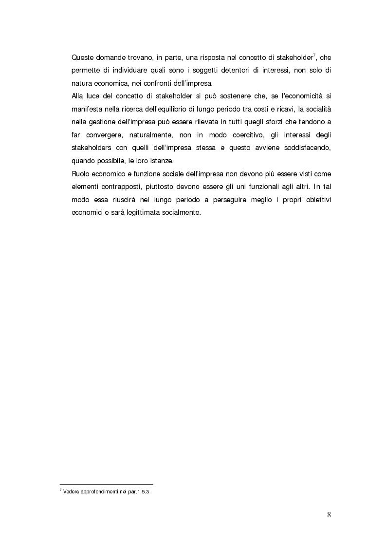 Anteprima della tesi: Il bilancio sociale d'impresa, Pagina 8