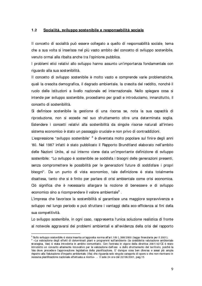 Anteprima della tesi: Il bilancio sociale d'impresa, Pagina 9