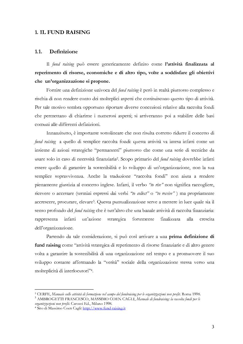 Anteprima della tesi: Il fund raising online degli enti culturali. Analisi del progetto per la fondazione Milano per la Scala, Pagina 3