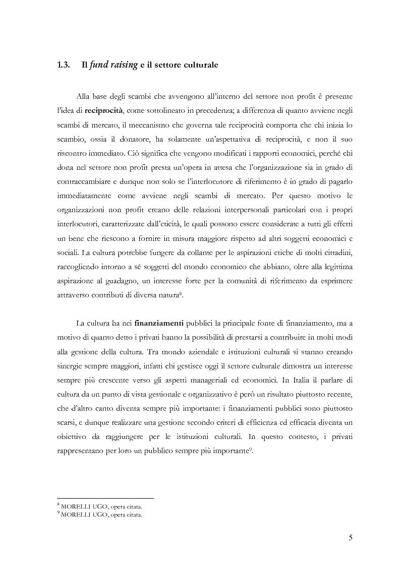 Anteprima della tesi: Il fund raising online degli enti culturali. Analisi del progetto per la fondazione Milano per la Scala, Pagina 5