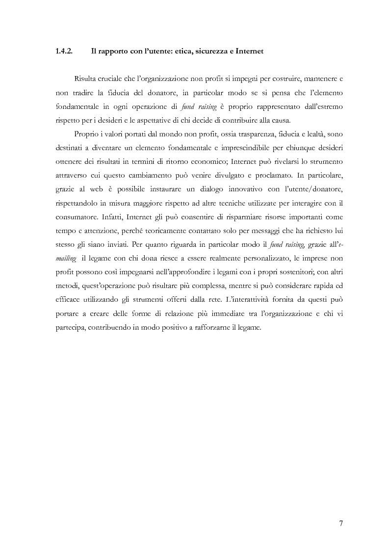 Anteprima della tesi: Il fund raising online degli enti culturali. Analisi del progetto per la fondazione Milano per la Scala, Pagina 7