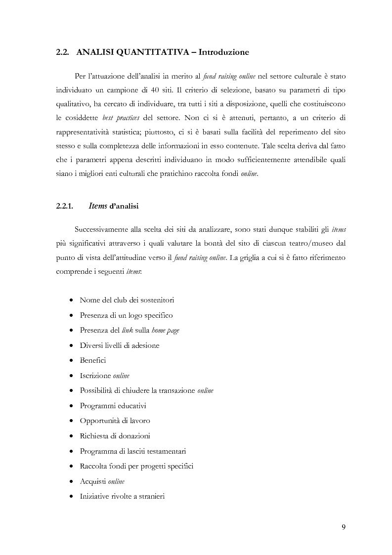 Anteprima della tesi: Il fund raising online degli enti culturali. Analisi del progetto per la fondazione Milano per la Scala, Pagina 9