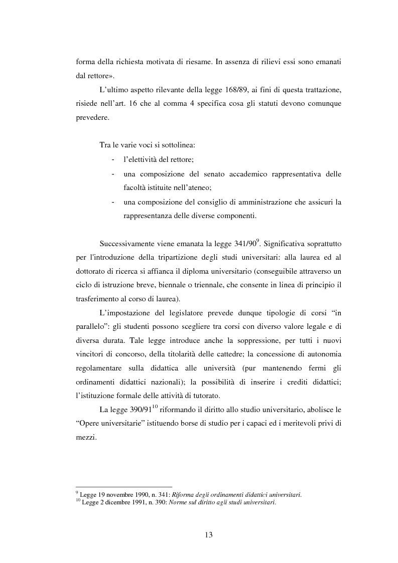 Anteprima della tesi: Metodologie e prime applicazioni sperimentali per la gestione strategica degli atenei, Pagina 10