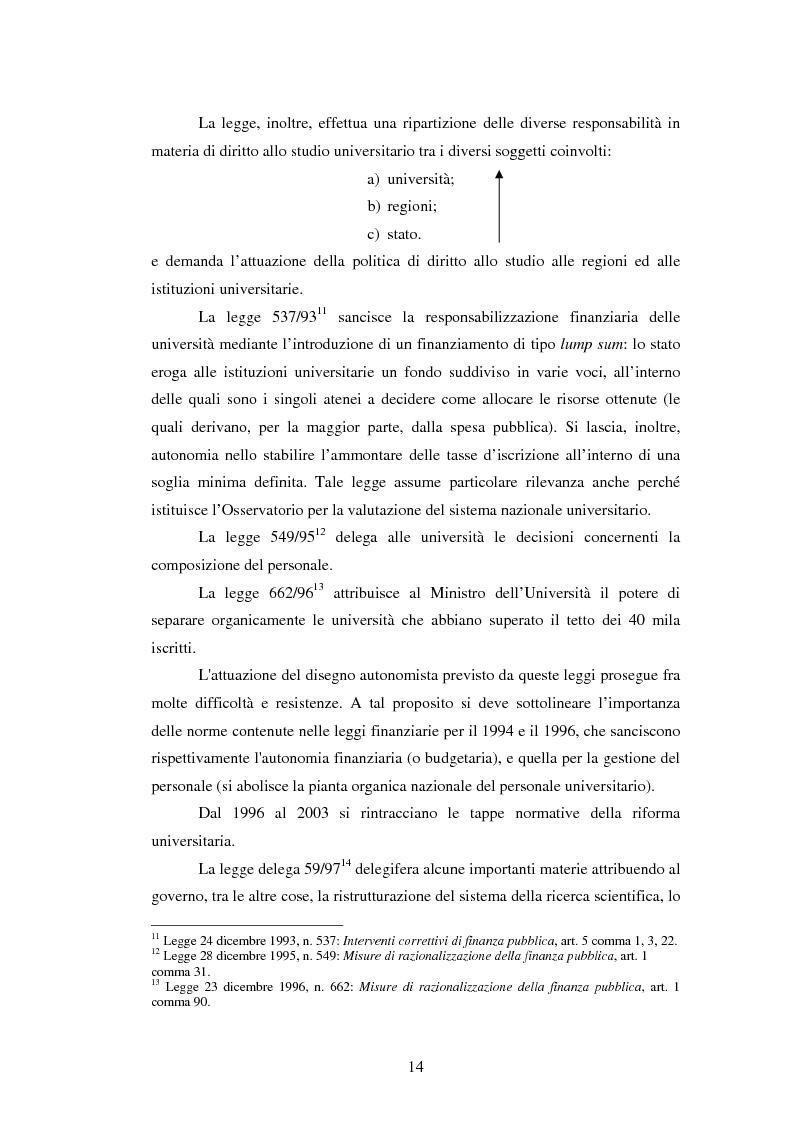 Anteprima della tesi: Metodologie e prime applicazioni sperimentali per la gestione strategica degli atenei, Pagina 11