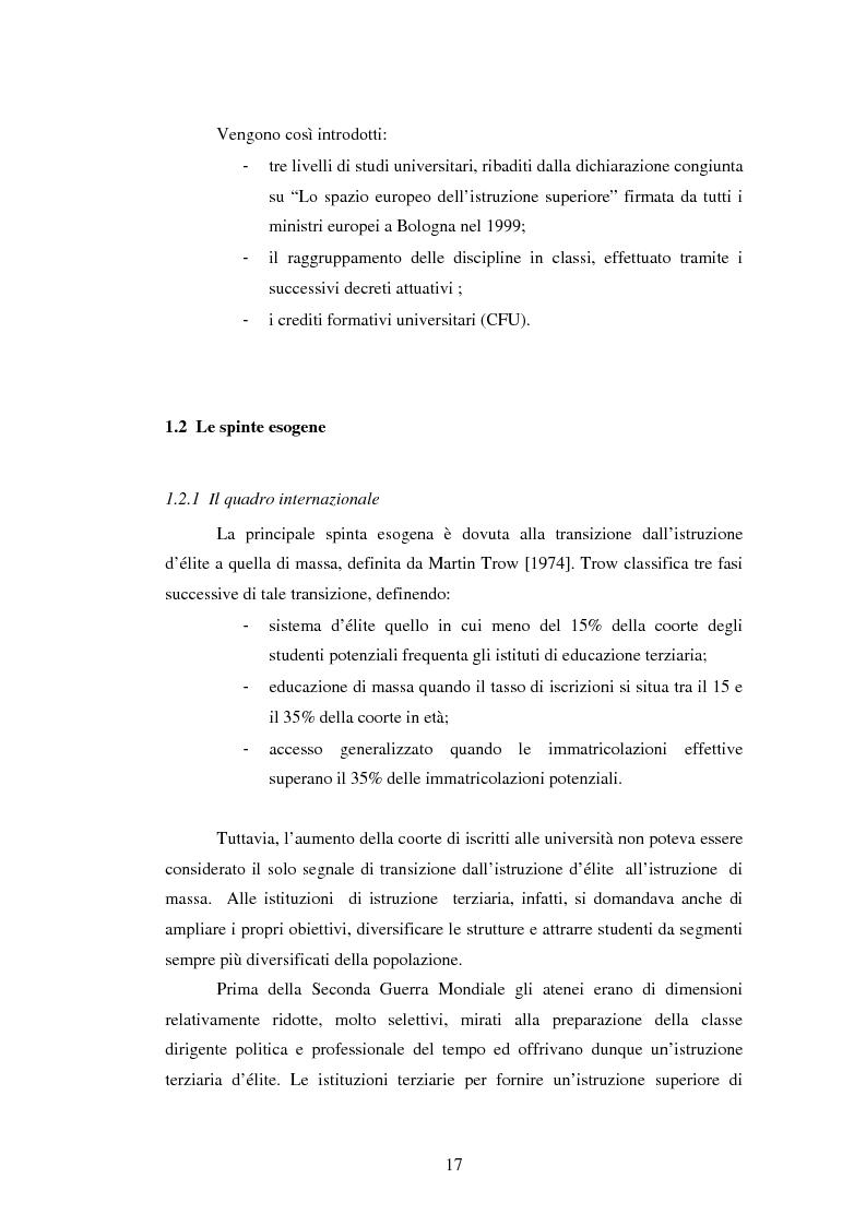 Anteprima della tesi: Metodologie e prime applicazioni sperimentali per la gestione strategica degli atenei, Pagina 14