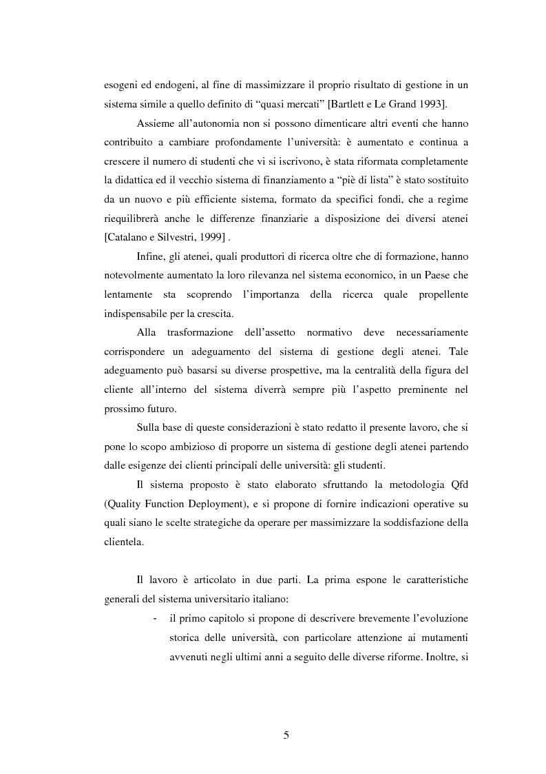 Anteprima della tesi: Metodologie e prime applicazioni sperimentali per la gestione strategica degli atenei, Pagina 2