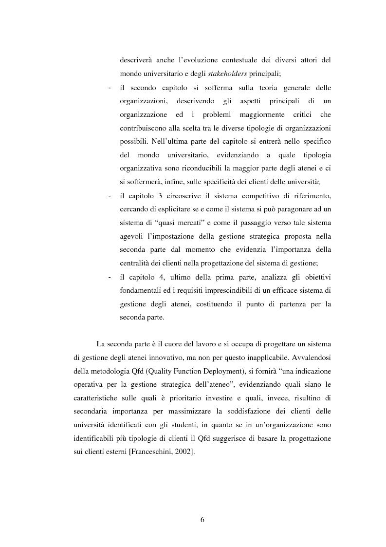 Anteprima della tesi: Metodologie e prime applicazioni sperimentali per la gestione strategica degli atenei, Pagina 3