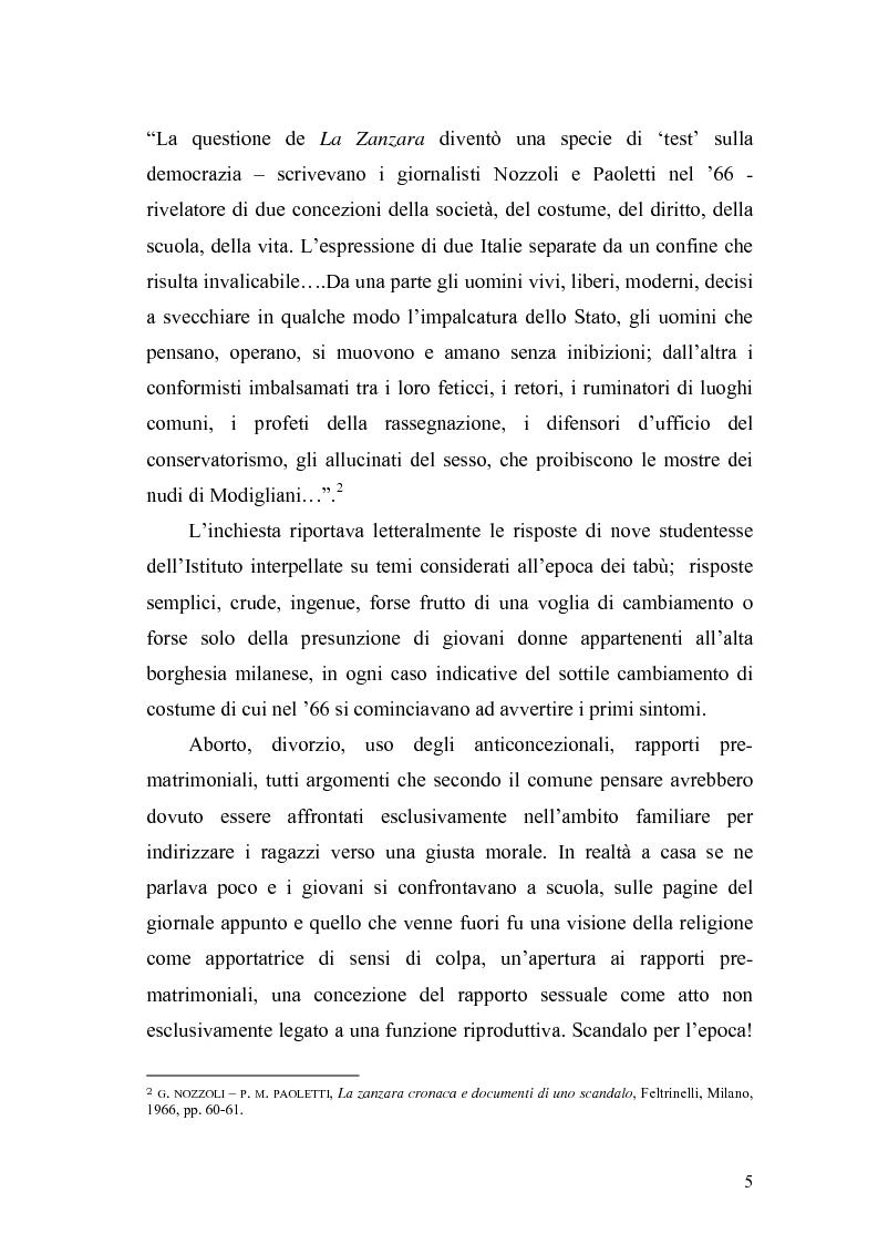 Anteprima della tesi: Il caso Zanzara: storia e cronaca, Pagina 3
