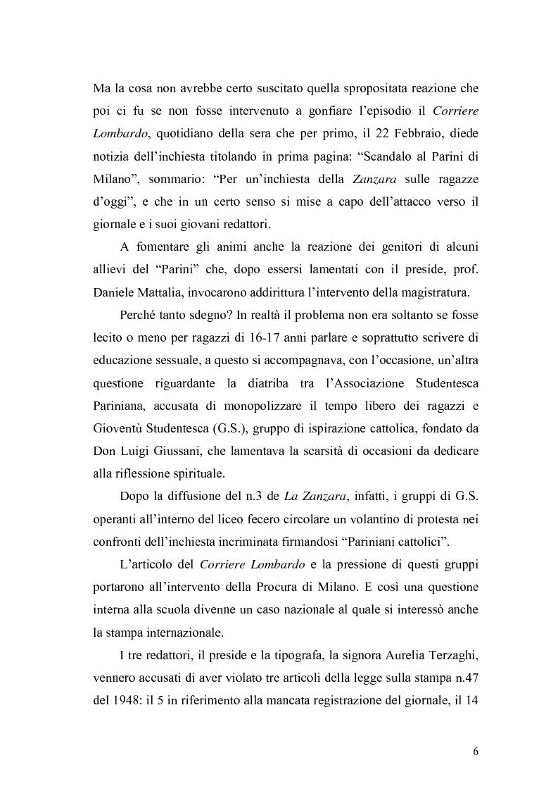 Anteprima della tesi: Il caso Zanzara: storia e cronaca, Pagina 4
