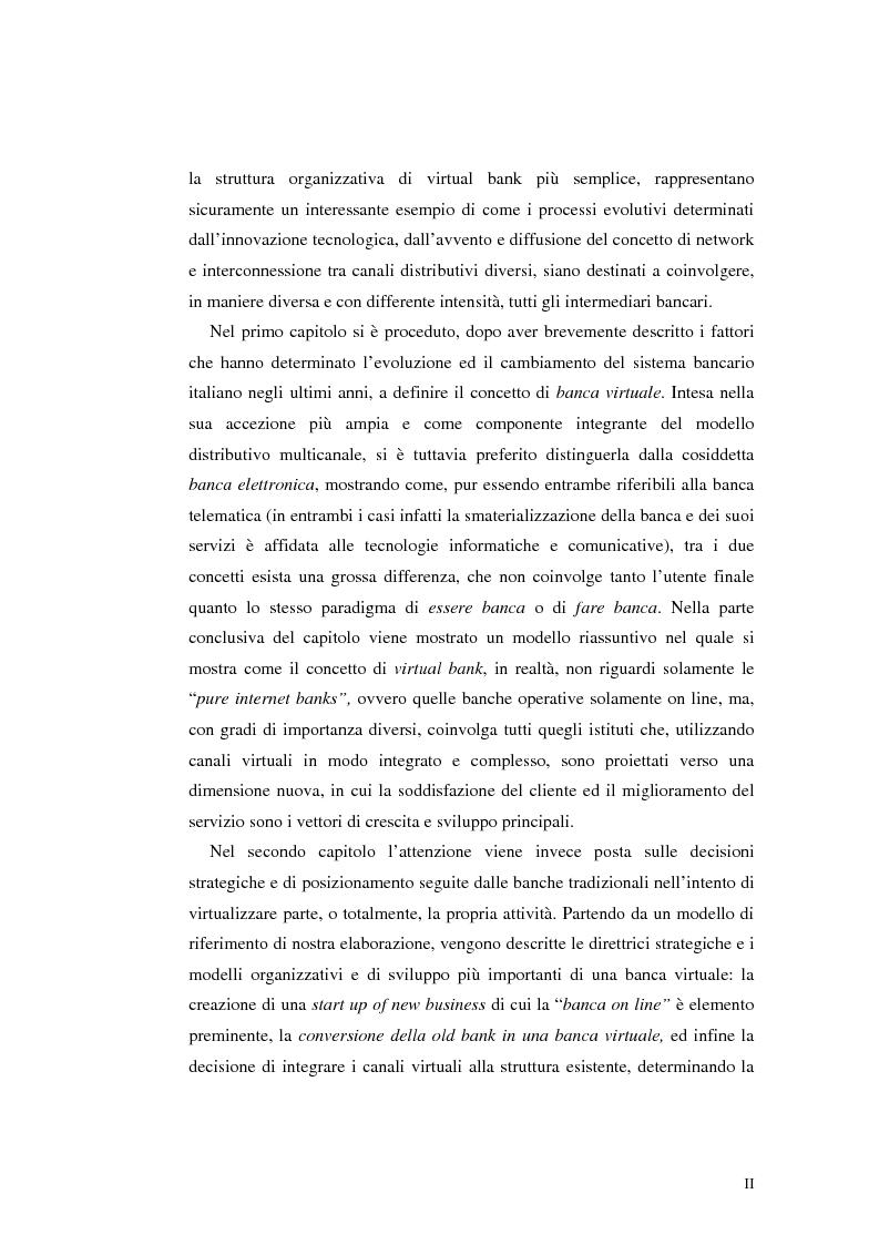 Anteprima della tesi: E-Banking : Linee strategiche ed evolutive del sistema bancario. Il caso delle banche di credito cooperativo, Pagina 2