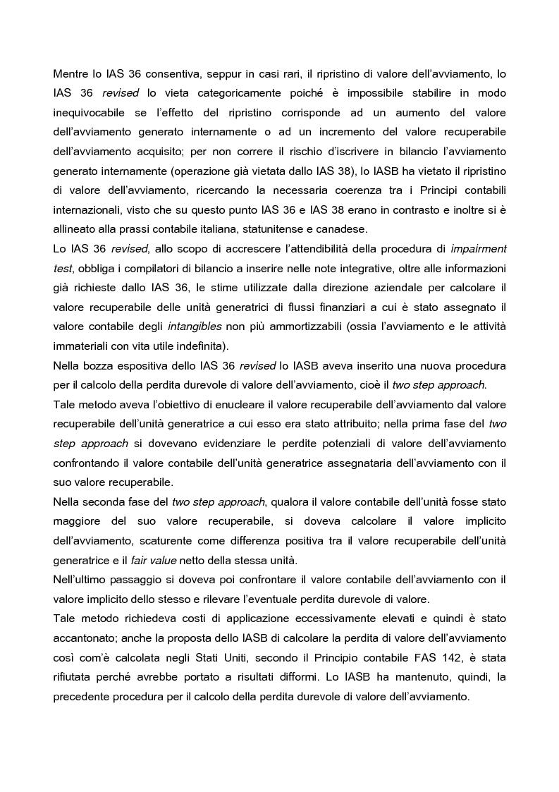 Anteprima della tesi: IAS 36 e IAS 36 revised: un confronto, Pagina 3