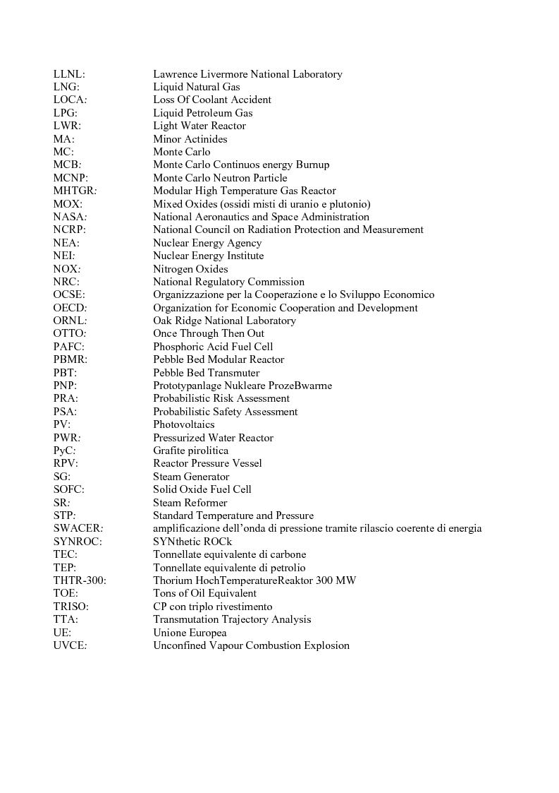 Anteprima della tesi: Problematiche di sicurezza nella produzione di idrogeno mediante impianti HTR, Pagina 2