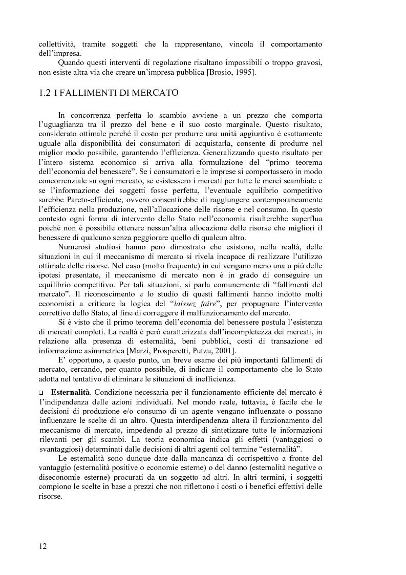 Anteprima della tesi: I servizi a rete: liberalizzazione e regolazione, con particolare attenzione al settore delle telecomunicazioni., Pagina 8