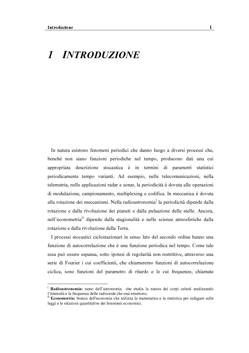 Anteprima della tesi: Analisi spettrale ciclica di segnali per telecomunicazioni: segnale ASK, Pagina 1
