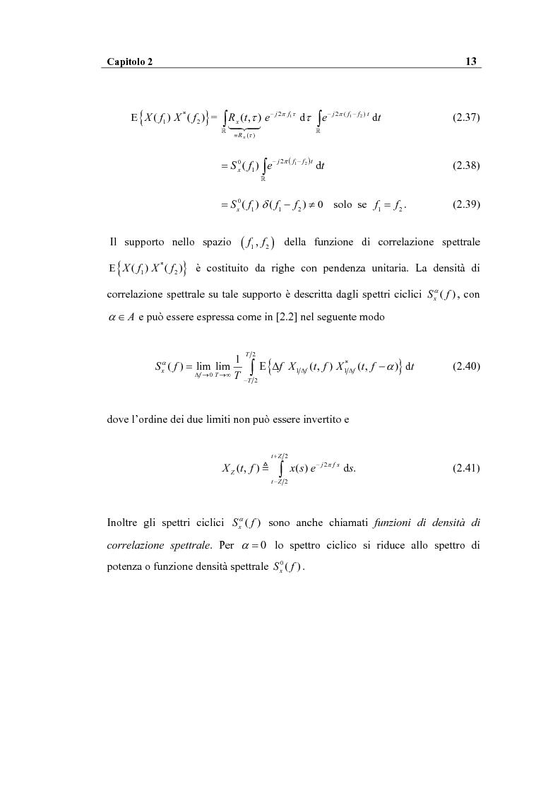 Anteprima della tesi: Analisi spettrale ciclica di segnali per telecomunicazioni: segnale ASK, Pagina 13