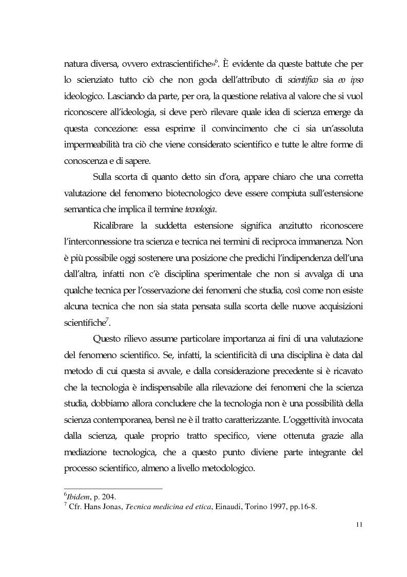 Anteprima della tesi: Sviluppo tecno-scientifico e riflessione bioetica, Pagina 10
