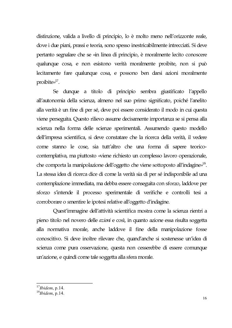 Anteprima della tesi: Sviluppo tecno-scientifico e riflessione bioetica, Pagina 15