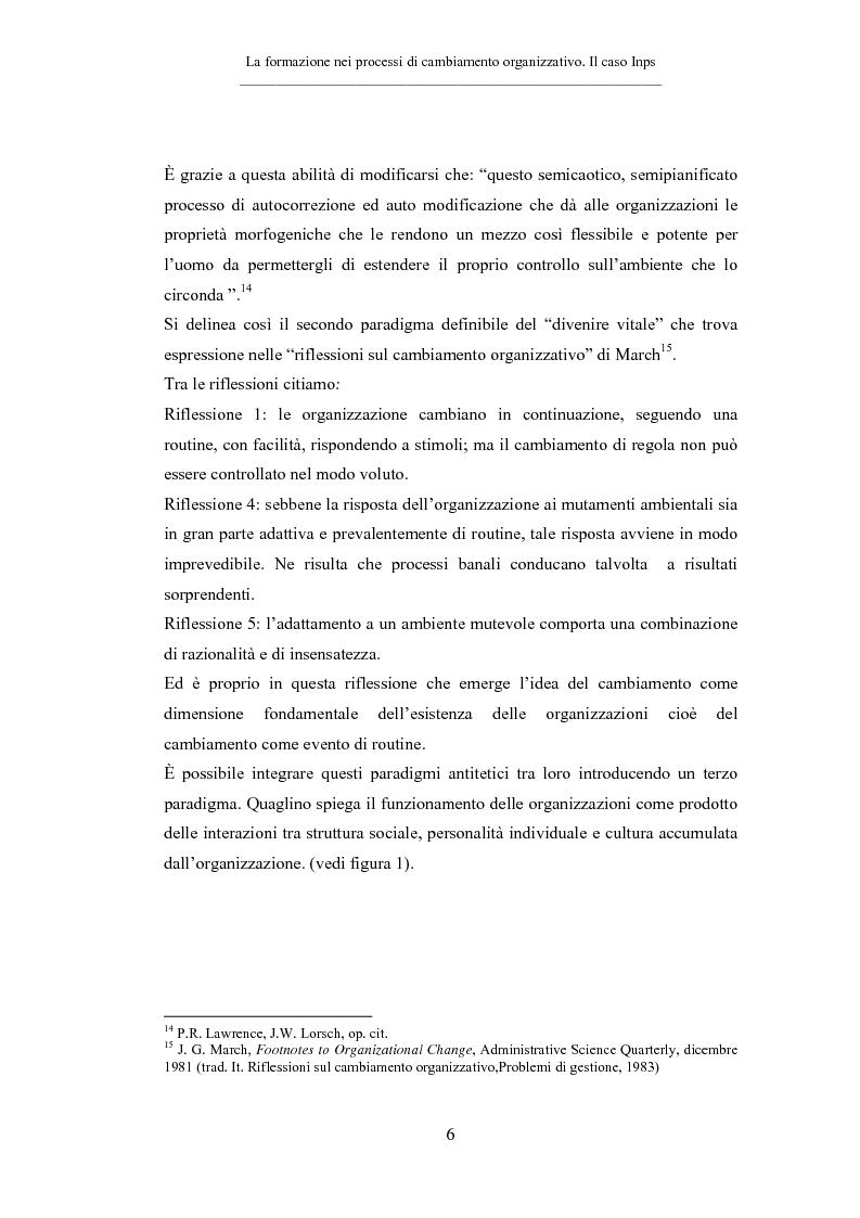 Anteprima della tesi: La formazione nei processi di cambiamento organizzativo. Il caso Inps, Pagina 6