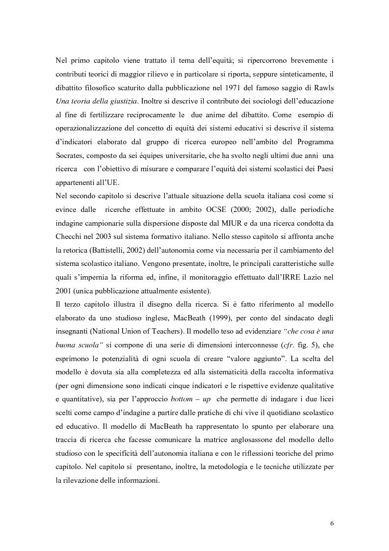 Anteprima della tesi: Pratiche per l'equità nella scuola dell'autonomia: due casi di studio., Pagina 3