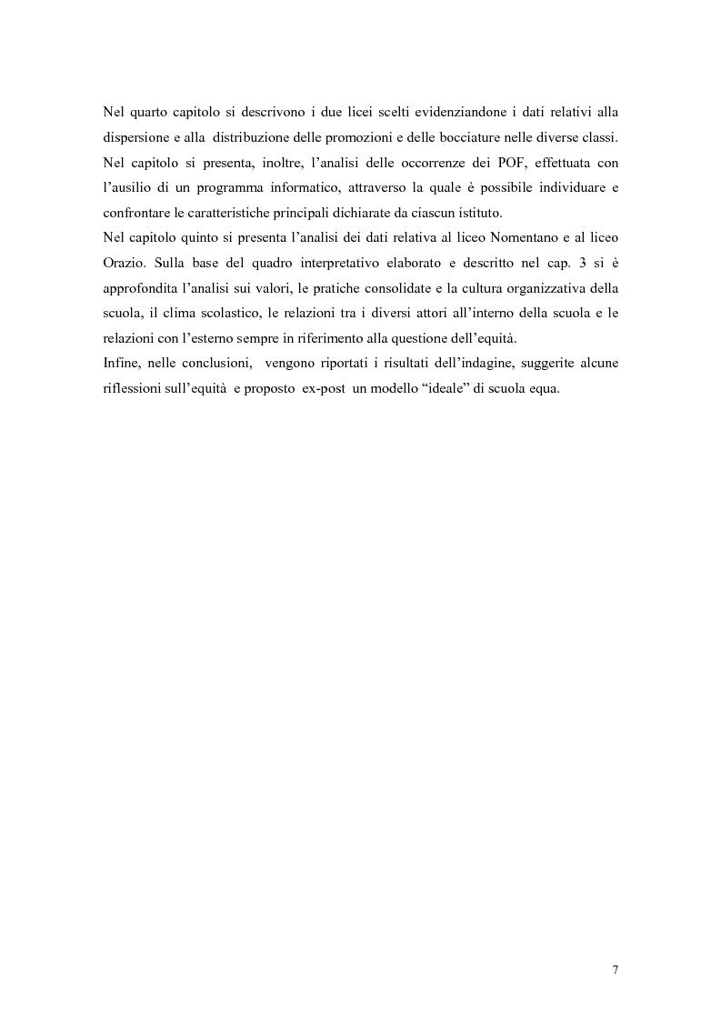 Anteprima della tesi: Pratiche per l'equità nella scuola dell'autonomia: due casi di studio., Pagina 4