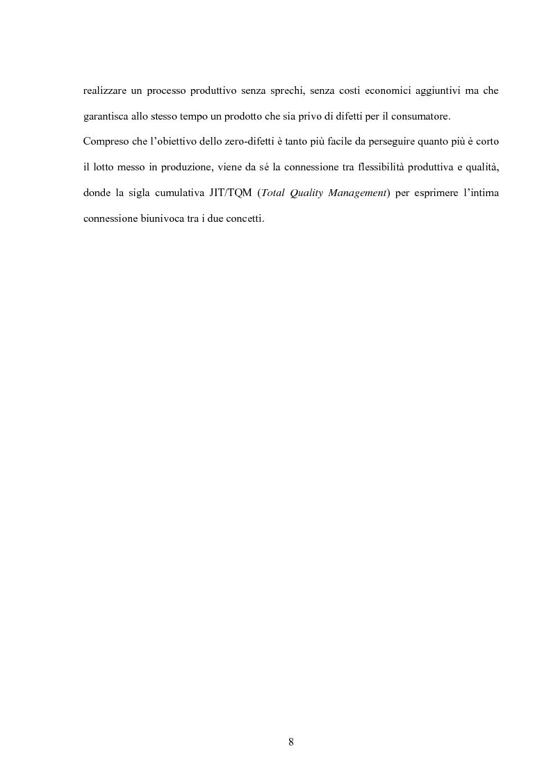 Anteprima della tesi: Modello giapponese e produzione snella: sviluppi ed applicazioni nell'industria automobilistica occidentale, Pagina 8