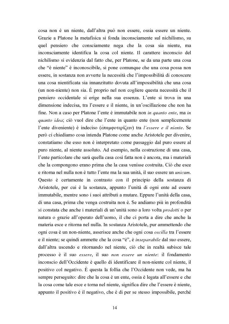 Anteprima della tesi: Nichilismo, téchne e poesia nel pensiero di Emanuele Severino, Pagina 12