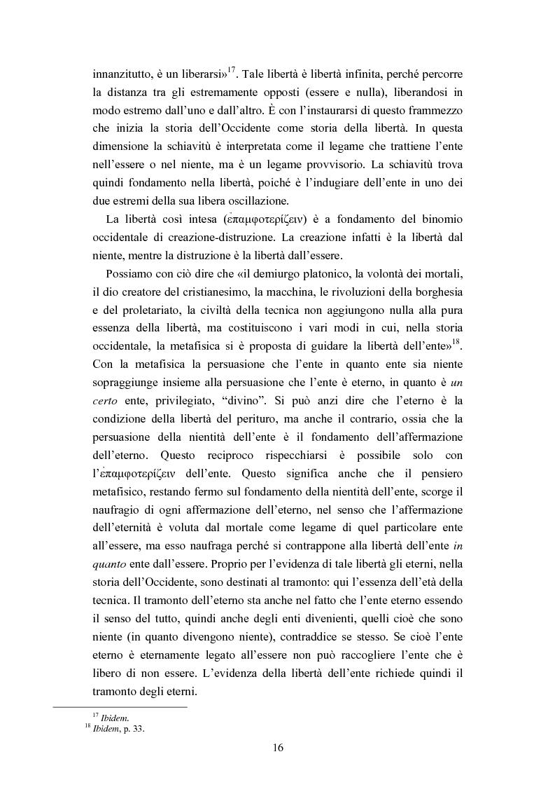 Anteprima della tesi: Nichilismo, téchne e poesia nel pensiero di Emanuele Severino, Pagina 14