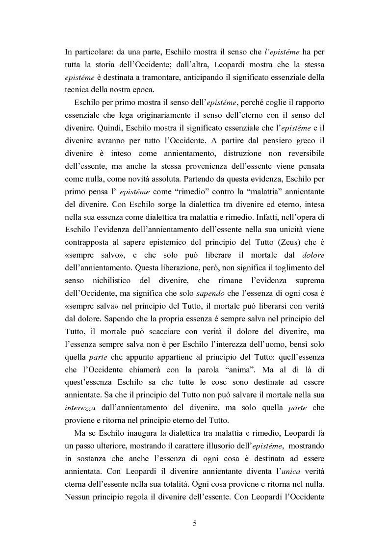 Anteprima della tesi: Nichilismo, téchne e poesia nel pensiero di Emanuele Severino, Pagina 3