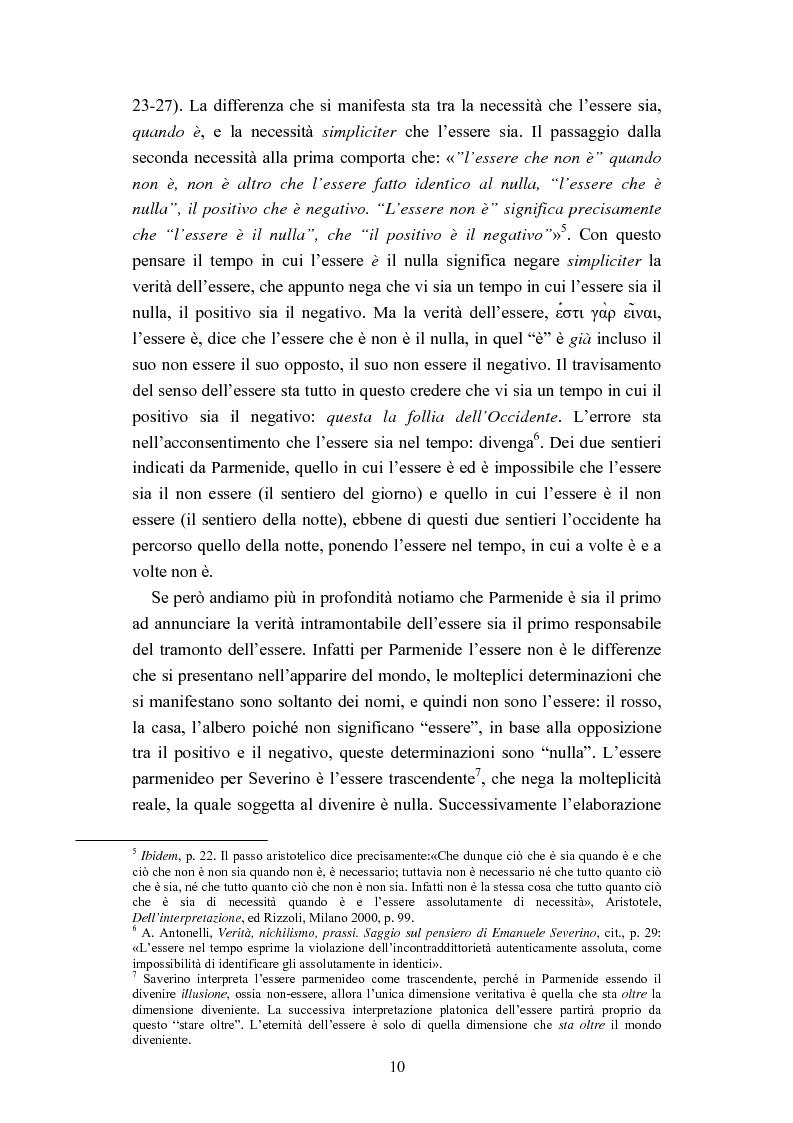 Anteprima della tesi: Nichilismo, téchne e poesia nel pensiero di Emanuele Severino, Pagina 8
