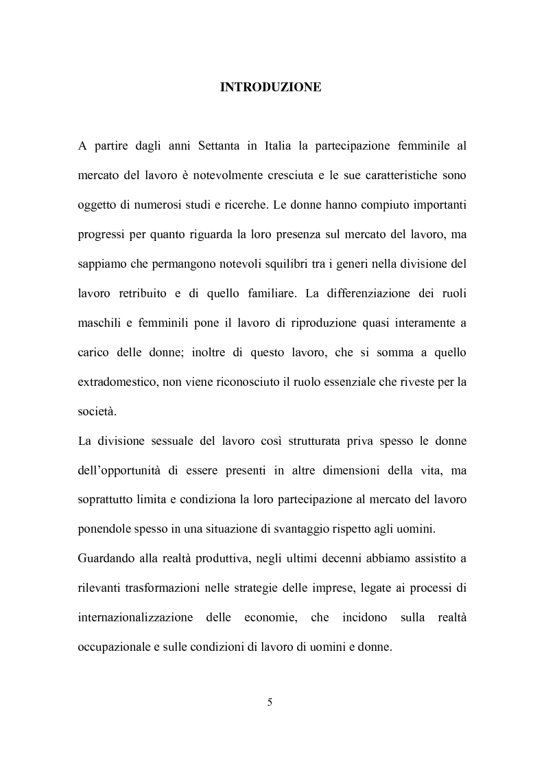 Anteprima della tesi: Delocalizzazione produttiva e occupazione femminile: il caso di un calzaturificio veronese, Pagina 1