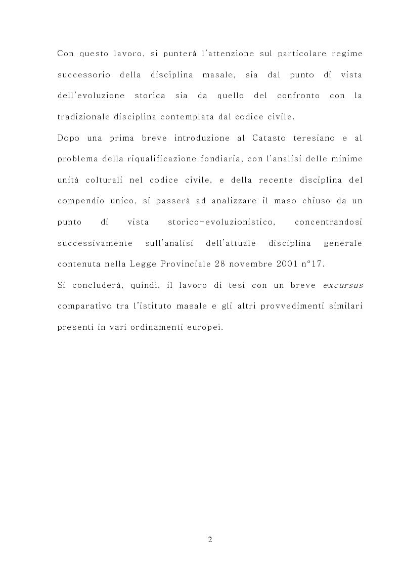 Anteprima della tesi: Il maso chiuso, Pagina 2