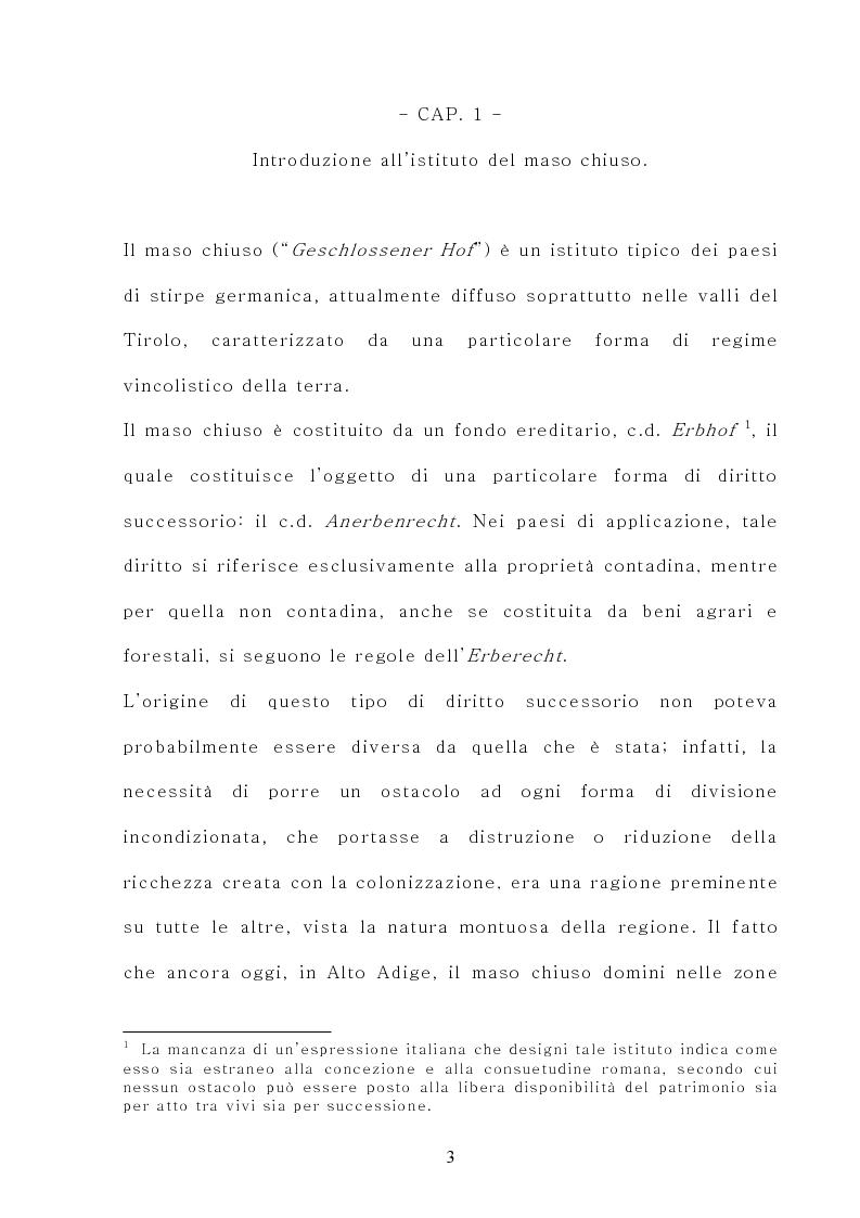 Anteprima della tesi: Il maso chiuso, Pagina 3
