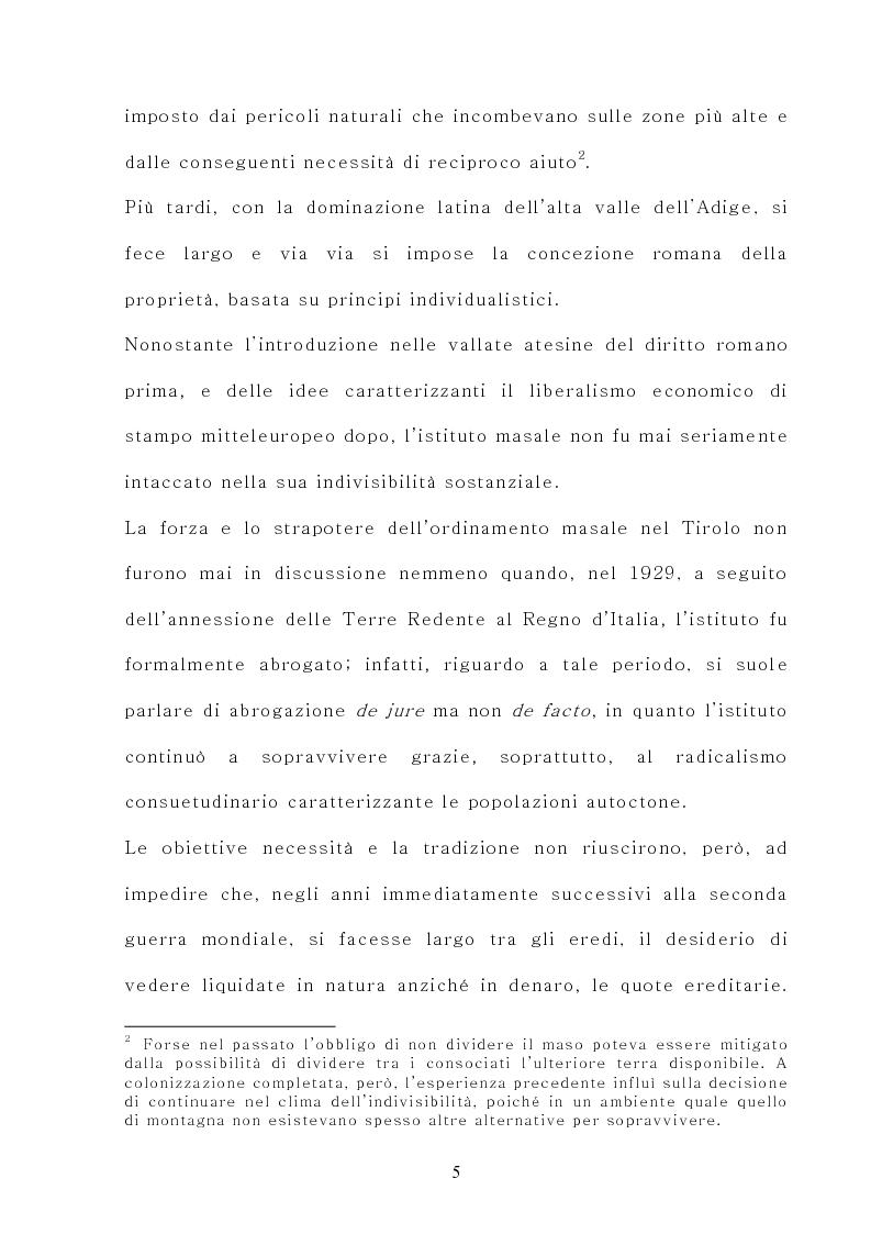 Anteprima della tesi: Il maso chiuso, Pagina 5