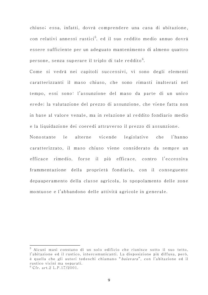 Anteprima della tesi: Il maso chiuso, Pagina 9