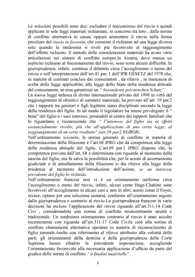 Anteprima della tesi: La giustizia materiale quale obiettivo del diritto intenazioanle privato, Pagina 3