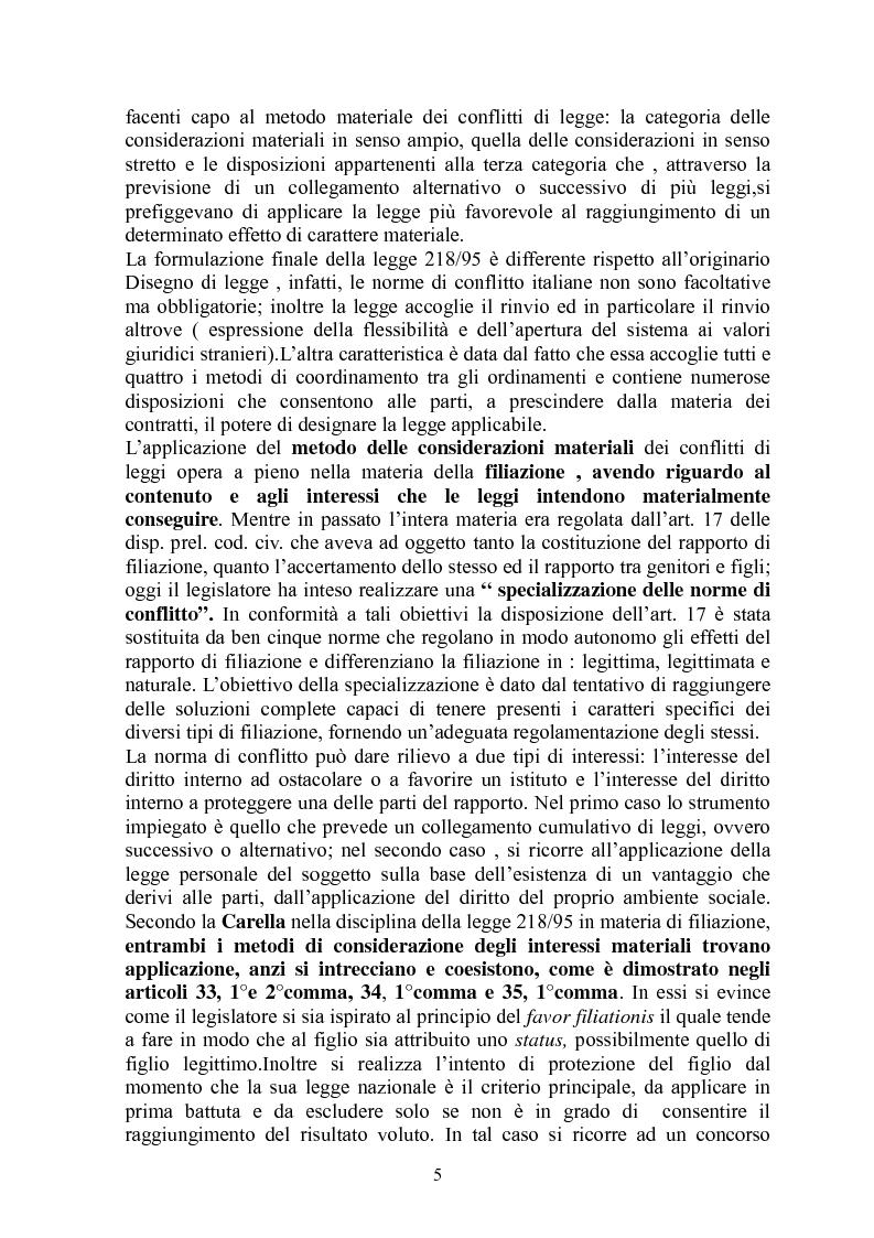 Anteprima della tesi: La giustizia materiale quale obiettivo del diritto intenazioanle privato, Pagina 5