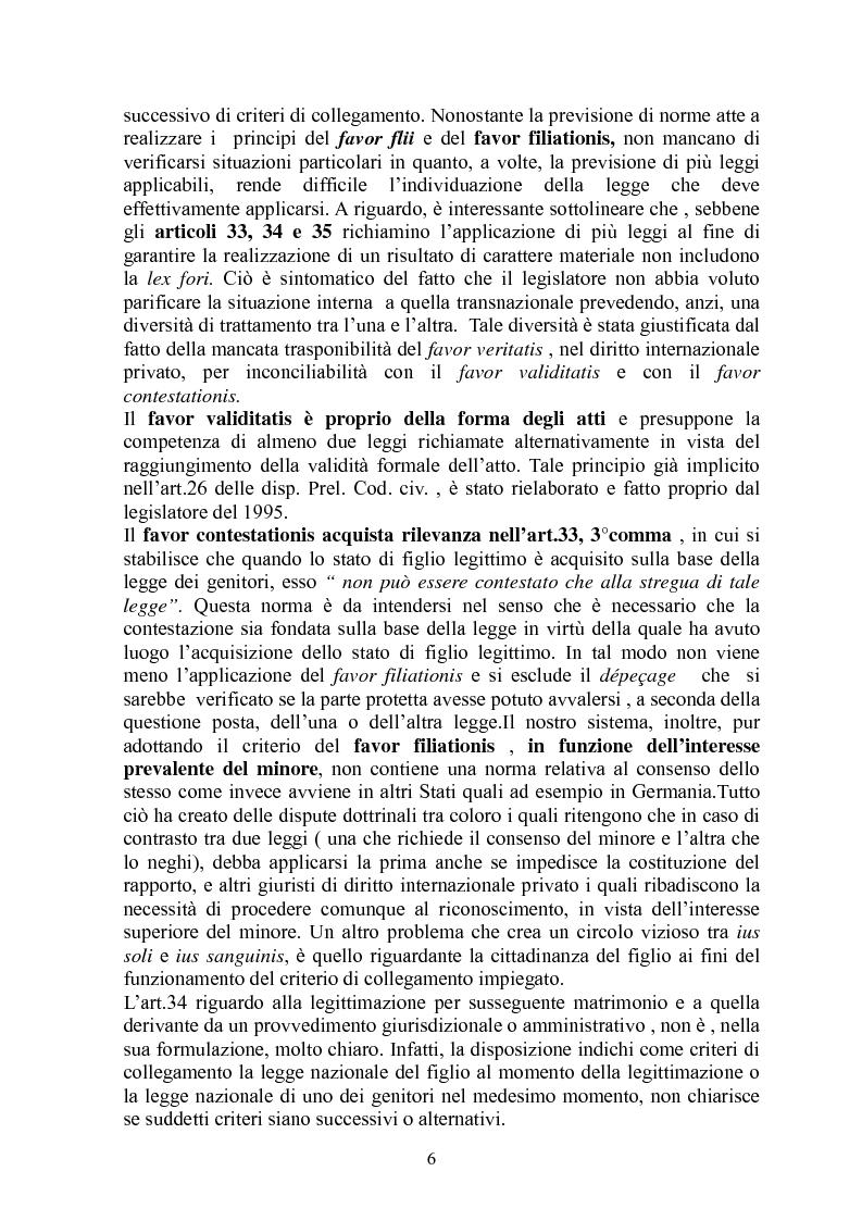 Anteprima della tesi: La giustizia materiale quale obiettivo del diritto intenazioanle privato, Pagina 6