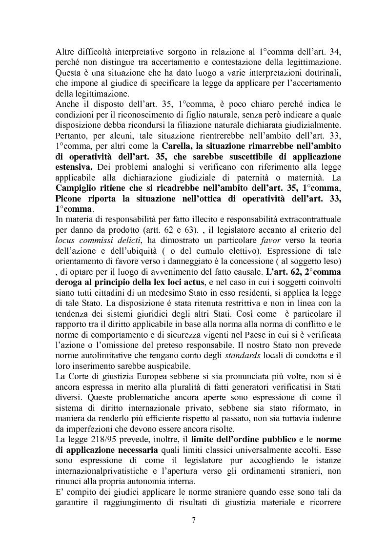 Anteprima della tesi: La giustizia materiale quale obiettivo del diritto intenazioanle privato, Pagina 7